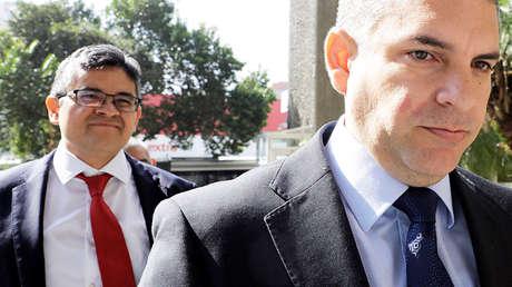 Los fiscales Rafael Vela y José Pérez llegan a la Fiscalía Regional, en Sao Paulo, 28 de febrero de 2018.
