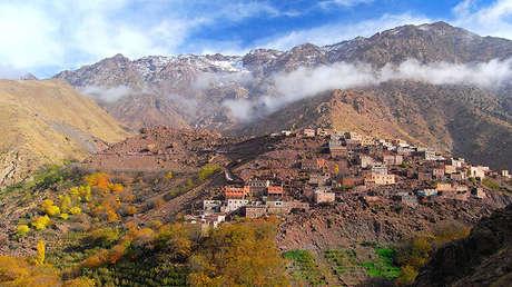 Vista panorámica del monte Toubkal en Marruecos, el 14 de noviembre de 2011.