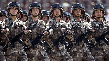 Tropas chinas durante la celebración del 70 aniversario del fin de la II Guerra Mundial, Pekín, 3 de septiembre de 2015.
