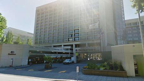 El Hotel Double Tree en Portland (Oregon, EE.UU.).