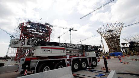 El sitio de construcción del nuevo Aeropuerto Internacional de la Ciudad de México en Texcoco, el 29 de octubre de 2018.
