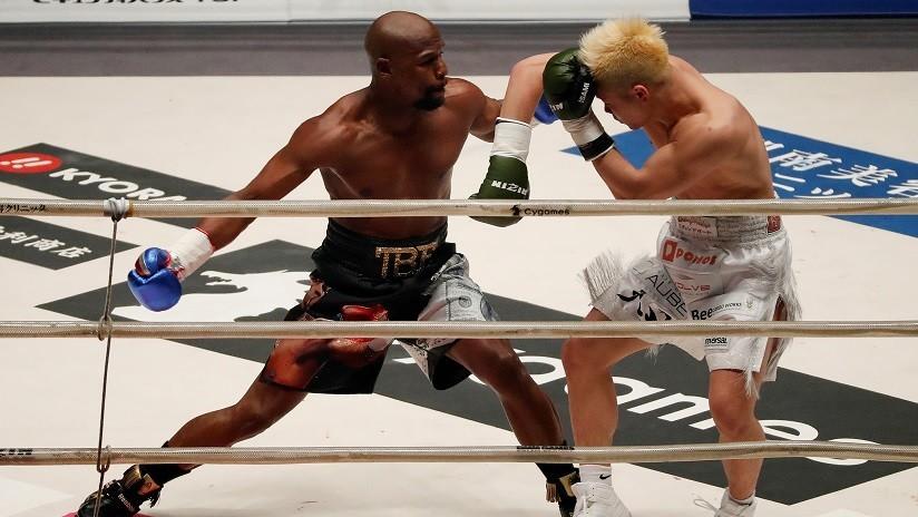 VIDEO: Mayweather se ríe al 'destruir' a su rival sin experiencia en boxeo y baila tras noquearlo