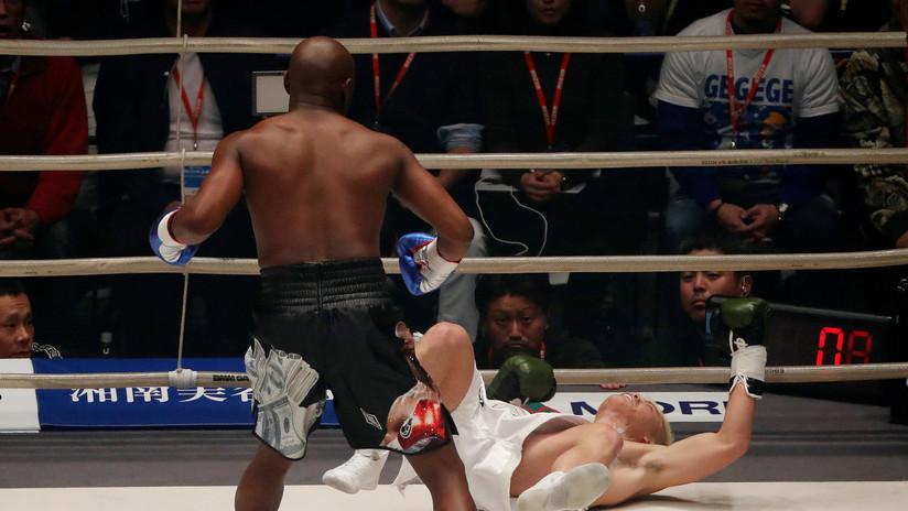 """""""Lo subestimé"""": el luchador japonés noqueado por Mayweather se pronuncia tras su humillante derrota"""