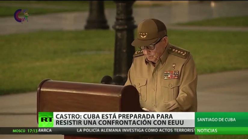 """Raúl Castro: """"Cuba está preparada para resistir un escenario de confrontación con EE.UU."""""""