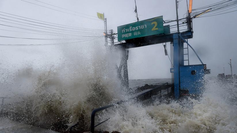 La primera tormenta tropical en tres décadas sacude el sur de Tailandia