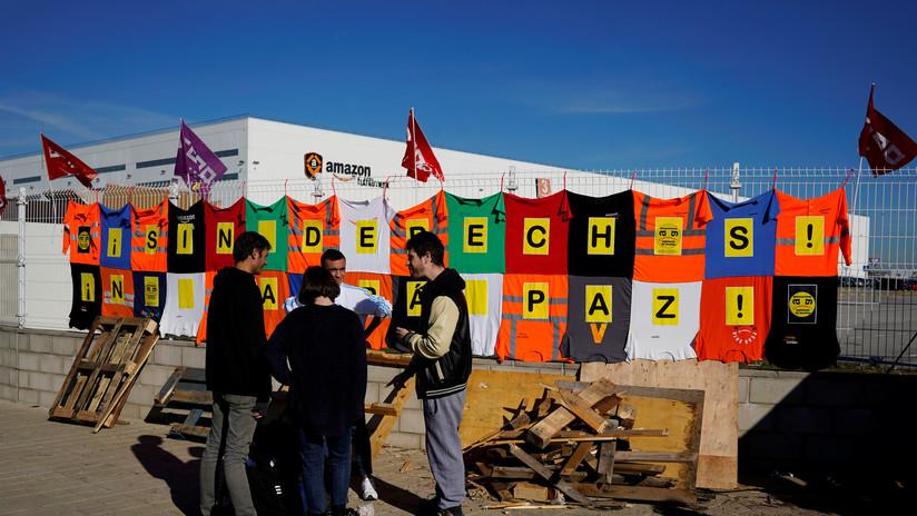 Trabajadores de Amazon en España organizan una huelga en la víspera de Día de Reyes