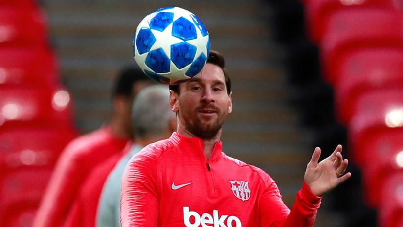 VIDEO: Messi deslumbra con un impensado gol en un entrenamiento del Barcelona