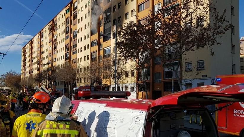 Incendio en un edificio residencial en Badalona deja tres muertos y unos 16 heridos