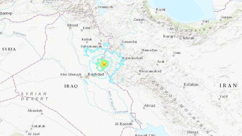 Un sismo de magnitud 5,5se registra enIrán cerca de la frontera con Irak