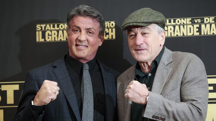 VIDEO: Stallone y De Niro 'ajustan cuentas' en el cuadrilátero