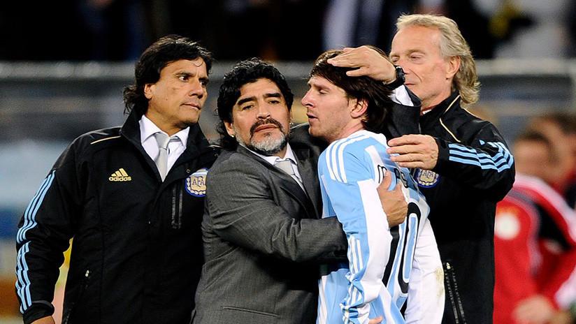 """""""Lo quiero, pero no va a ser líder"""": Maradona vuelve a hablar sobre el liderazgo de Messi"""