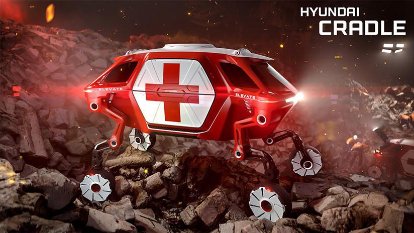 ¿Un coche con patas? Hyundai presenta un todoterreno con extremidades que trepa paredes (FOTOS)