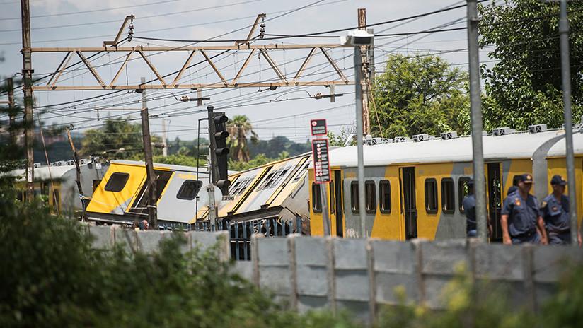 Un choque de trenes en Sudáfrica deja al menos tres muertos y más de 600 heridos