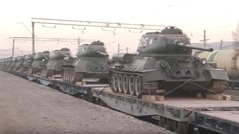 VIDEO: Rusia recibe de Laos 30 legendarios tanques T-34