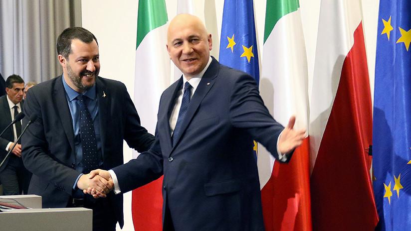 """Salvini: Italia y Polonia protagonizarán una """"nueva primavera europea"""""""