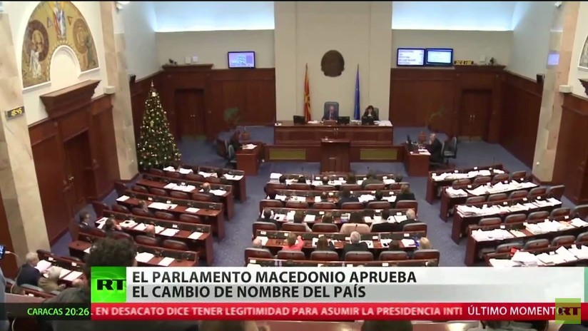 El Parlamento de Macedonia aprueba el cambio de nombre del país