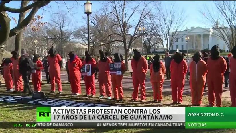 EE.UU.: Activistas protestan contra los 17 años de la cárcel de Guantánamo