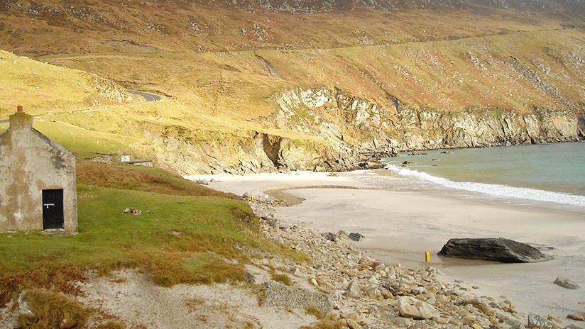 Irlanda: Vuelve a 'esfumarse' la arena de una playa que había reaparecido el año pasado (VIDEO)