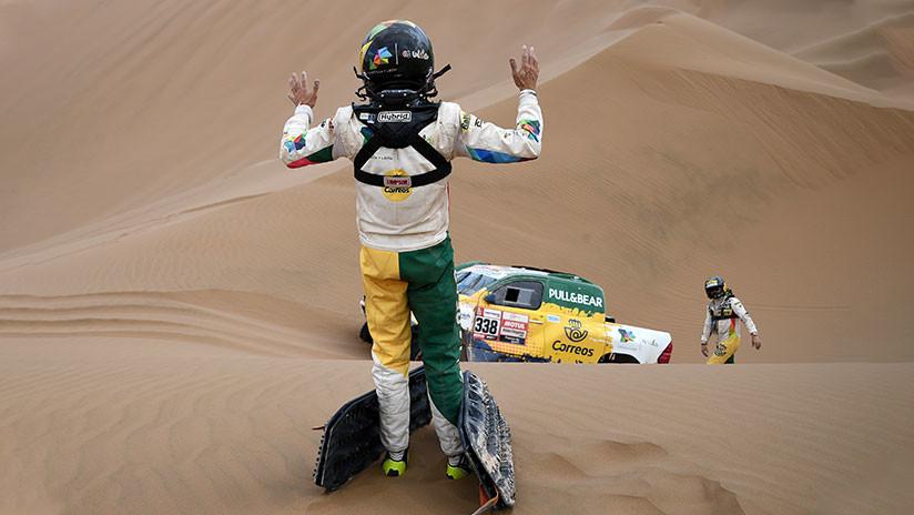 El piloto español Jesús Calleja abandona el Dakar tras volcar su vehículo en la sexta etapa