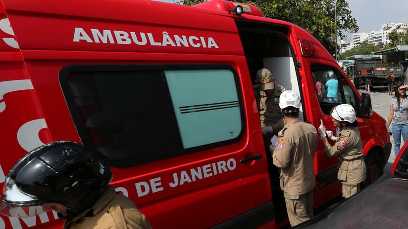 Un muerto tras la caída de un helicóptero de la Policía en Río de Janeiro