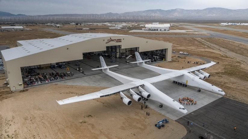 VIDEO: El avión más grande del mundo realiza pruebas de alta velocidad