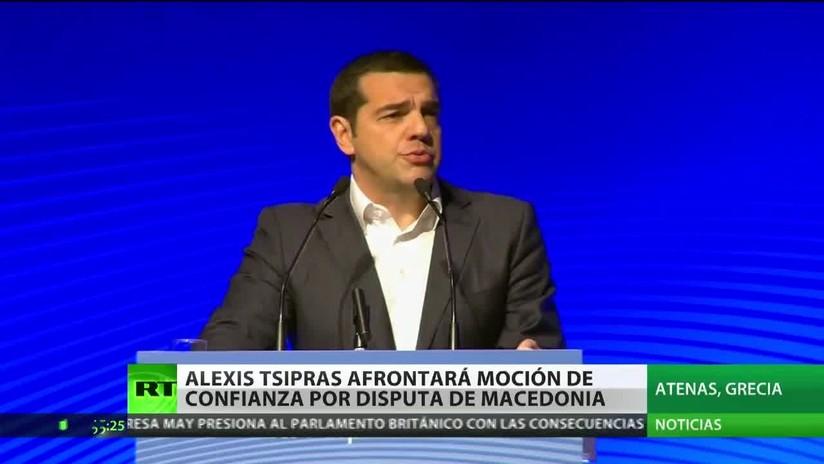 Alexis Tsipras afrontará una moción de confianza por el desacuerdo sobre el nombre de Macedonia