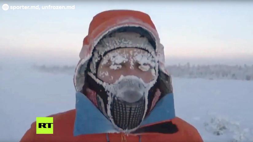 """""""Es como ir al espacio"""": Un atleta solidario recorre 50 kilómetros a -60 ºC en Siberia (VIDEO)"""