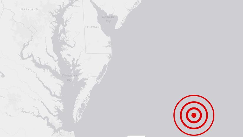 Se registra un sismo de magnitud 4,7 cerca de las costas de Maryland