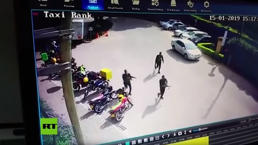 Publican nuevo video del ataque terrorista en un hotel en Nairobi, captado por cámaras de vigilancia