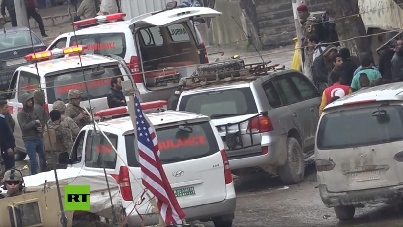 Video de la presunta evacuación de soldados de EE.UU. en helicóptero tras la explosión en Manbij