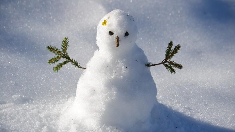 FOTOS: Quiso atropellar un muñeco de nieve pero no sabía que tenía sorpresa