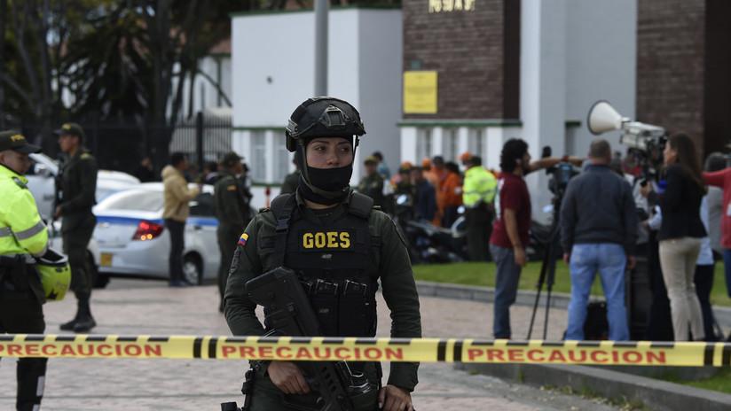 Así quedó una escuela de Policía de Bogotá tras la mortífera explosión de un coche bomba