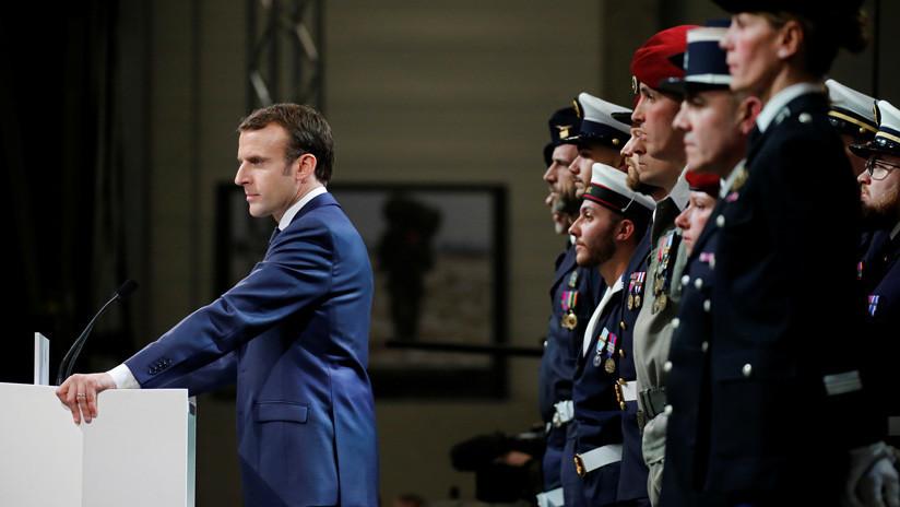 Macron dice que mantendrá la presencia militar en Siria e Irak para luchar contra el Estado Islámico