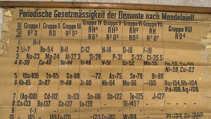 VIDEO: Descubren la tabla periódica más antigua del mundo accidentalmente durante una limpieza