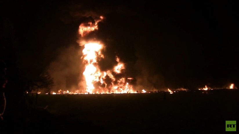 VIDEO: El momento de la mortal explosión del oleoducto en México