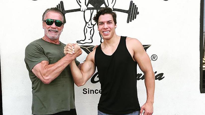Terminator Júnior: un hijo de Arnold Schwarzenegger publica una foto copiando su famosa postura
