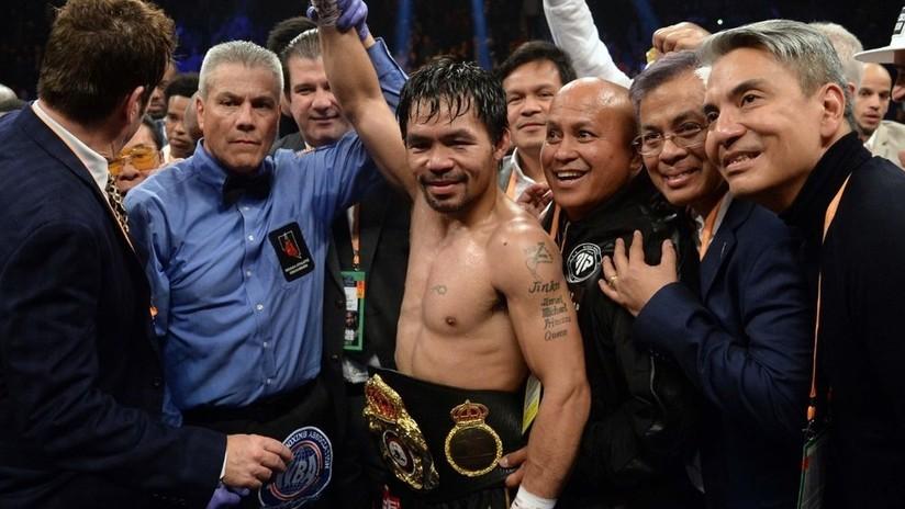 "La leyenda filipina del boxeoManny Pacquiao reta aMayweather a ""pelear de nuevo"""