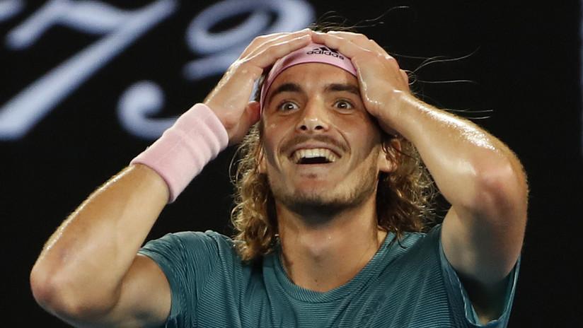 """""""Soy el hombre más feliz del mundo"""": el griego Tsitsipas supera a Federer en el Abierto de Australia"""