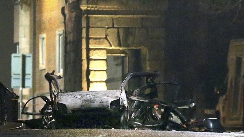 VIDEO: El momento de la explosión de un coche bomba en Irlanda del Norte
