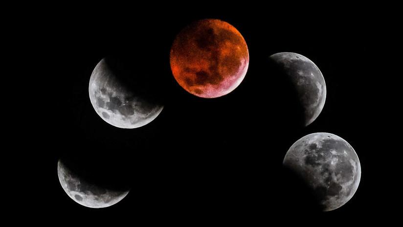 Así deslumbra la 'superluna de sangre' vista desde varios países