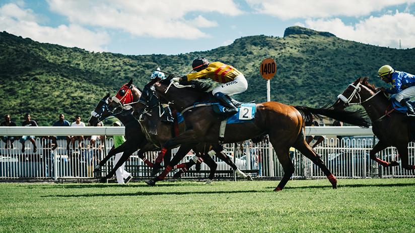 VIDEO: Un jinete es lanzado hacia adelante por su caballo pero se rehace y gana la carrera