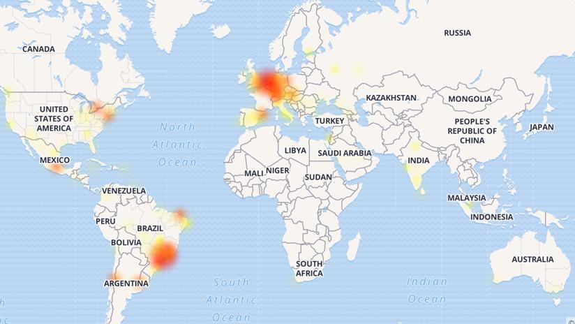 WhatsApp sufre una caída a escala global
