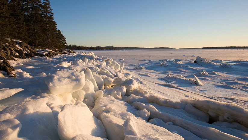 VIDEO, FOTOS: El hielo se apodera de la costa este de EE.UU. y congela parcialmente el Atlántico