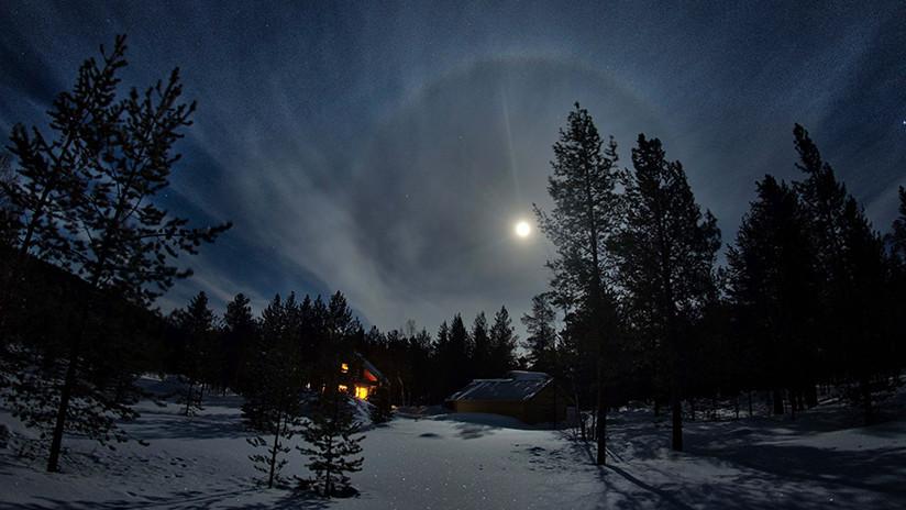 ¿Por qué apareció un anillo alrededor de la Luna? Captan un espectacular fenómeno óptico (FOTO)