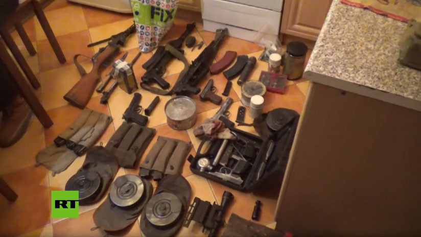 VIDEO: Desarticulan una extensa red de fabricación de armas de fuego y explosivos en Rusia