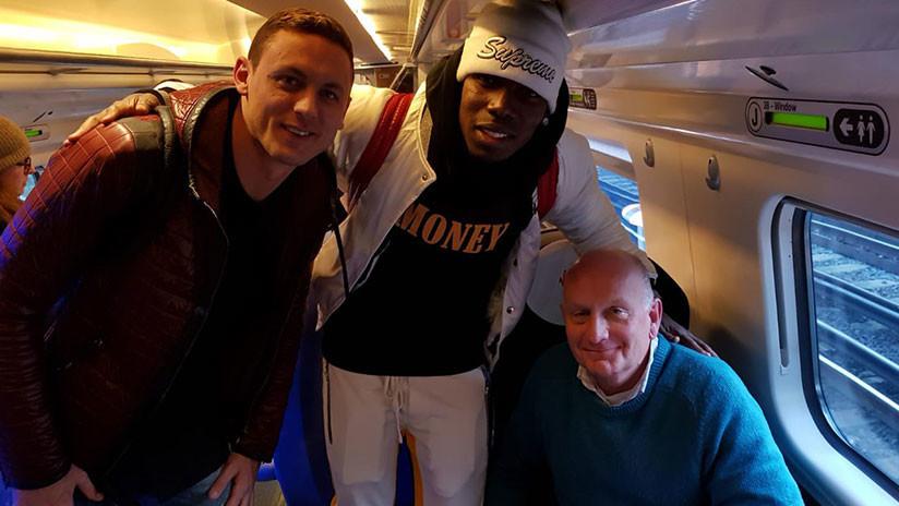 Se quejan por pasajeros molestos en el tren, que resultaron ser estrellas del Manchester United