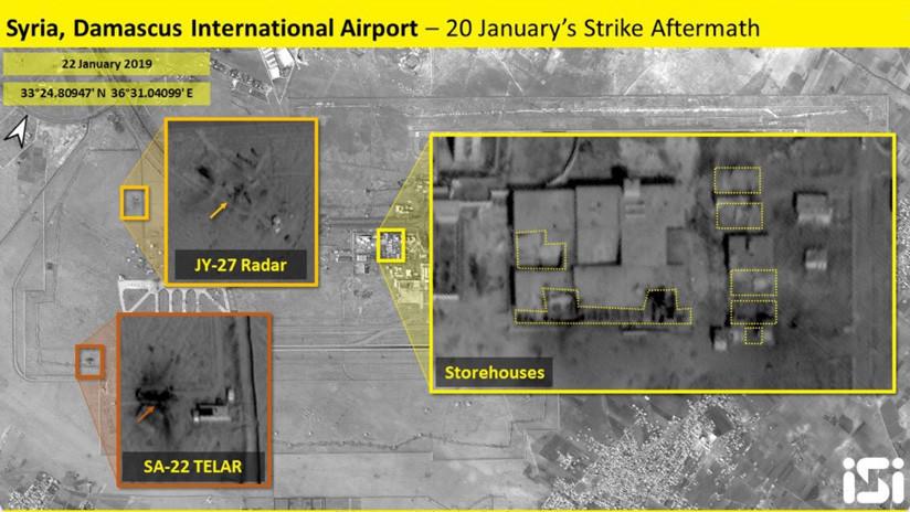 FOTOS: Nuevas imágenes de los depósitos atacados por Israel en Siria