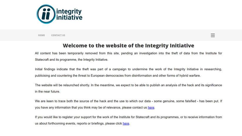 Acusada de hacer la guerra informativa: La 'Iniciativa de integridad' británica retira su contenido web