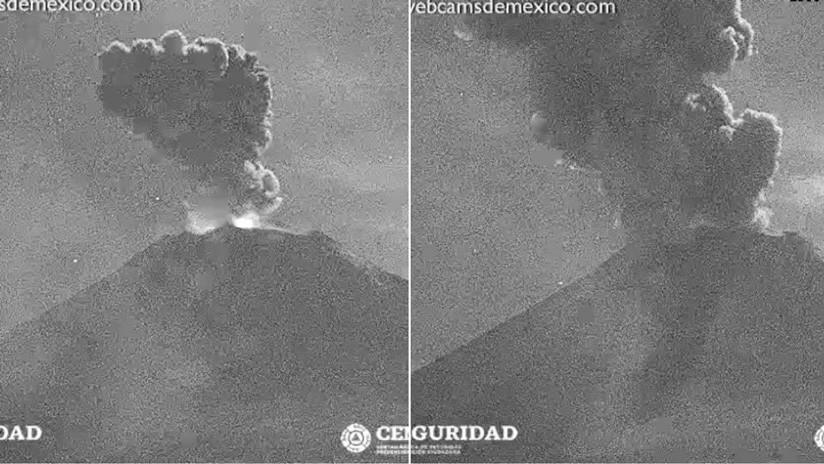 Se registra en México una nueva explosión en el volcán Popocatépetl