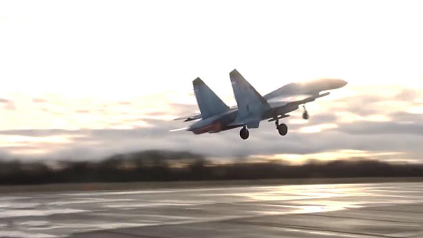 VIDEO: Un caza Su-27 intercepta a un avión espía sueco que se acercó a la frontera rusa en el Báltico
